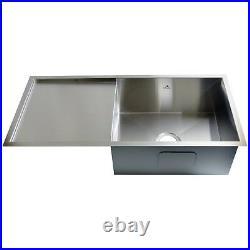 Kitchen Sink Stainless Steel Single Bowl Drainer Undermoun Topmount