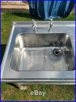 Kitchen Sink Unit Commercial Sink Stainless Steel Catering Kitchen Single Bowl