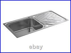 Kohler Ease Inset Stainless Steel Kitchen Sink Single Bowl Waste 1000 x 500mm