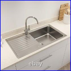 Kohler Hone Inset Stainless Steel Kitchen Sink Single Bowl Waste 950 x 500mm