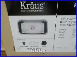 Kraus KBU14-1630-42CH Modern Undermount Single Bowl Sink with Pull Down Faucet