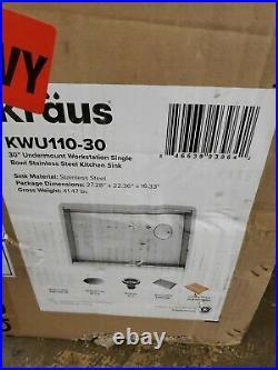 Kraus KWU110-30 Kore Kitchen Single Bowl 30 Inch 30- Workstation Sink