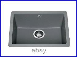 Lamona Grey granite composite inset/undermount single bowl sink RRP £300