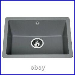 Lamona SNK2125 Single Bowl Inset Granite Composite Grey Kitchen Sink