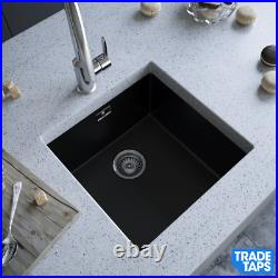 MELIA Matt Black 1.0 OR 1.5 Single Bowl and Half Kitchen Sink with Wastes & Tap