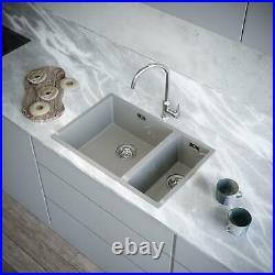 Matt Grey Kitchen Sink INSET OR UNDERMOUNTED Insert Single Bowl Comite Inc WASTE