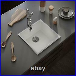 Matt White Comite Single Bowl Inset Or Undermounted Kitchen Sink
