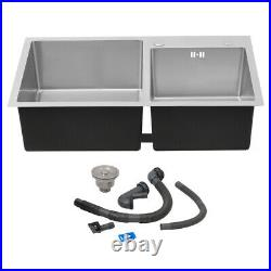 Modern Kitchen Sink Stainless Steel Single/Twin/1.5 Bowl SINK Drainer Waste Kit