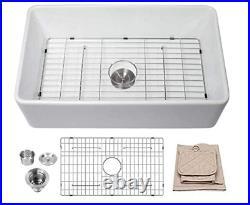 Multi-Size Ceramic Farmhouse/Apron-Front Single Bowl Kitchen Sink