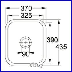 NEW. Franke VBK110 33 Ceramic Black Kitchen Large Single Bowl Sink VBK11033BK