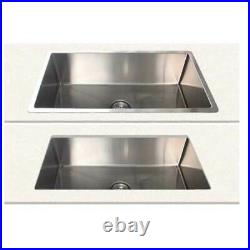 New Castano Kitchen Bar SS Single Bowl Sink Over & Under Mount CBM07 810x450x250