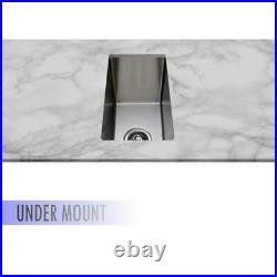 New Castano Kitchen Bar SS Single Bowl Sink Over & Under Mount CBM21 300x450x250