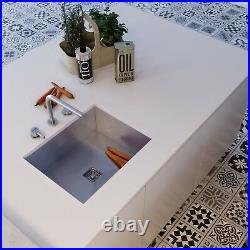 Premium Handmade Brushed Stainless Steel Kitchen Sink Single Bowl Undermount