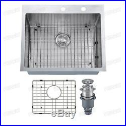 Primart 25 x 22 inch 16 Gauge Single Bowl Stainless Steel Drop-in Kitchen Sinks