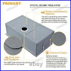Primart 30X18 Inch 16 Gauge Undermount Single Bowl Stainless Steel Kitchen Sinks