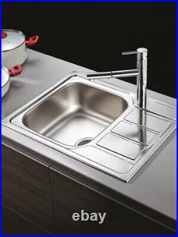 Pyramis Athena Sink Single / 1.5 Bowl With Drainer Kitchen Sinks Stainless Steel