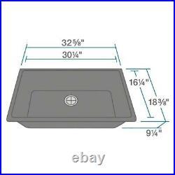 R3-1006-CGF Single Bowl Undermount Composite Granite Sink