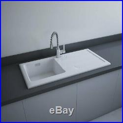 RAK Gourmet 4 Ceramic Kitchen Sink 1.0 Bowl 1010mm L x 510mm W White