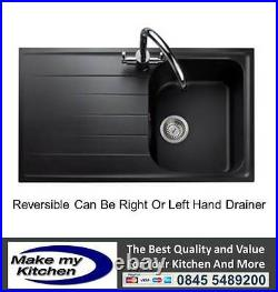 Rangemaster Amethyst 1.0 Single Bowl Igneous Kitchen Sink Ash AME860