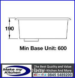 Rangemaster Atlantic Classic Single Bowl Stainless Steel Undermount Sink UB45
