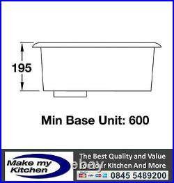 Rangemaster Atlantic Quad 1.0 Single bowl Stainless Steel Undermount Sink QUB48