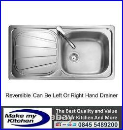 Rangemaster Baltimore 1.0 Single Bowl Stainless Steel Kitchen Sink BL9501