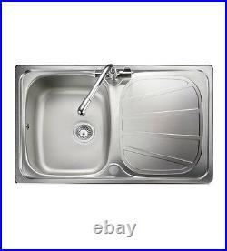 Rangemaster Baltimore Compact Single Bowl Stainless Steel Kitchen Sink BL8001