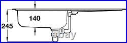Rangemaster Euroline 1.0 Single Bowl Stainless Steel Kitchen Sink EL860 & Waste