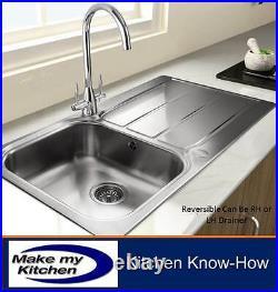 Rangemaster Glendale 1.0 Single Bowl Stainless Steel Kitchen Sink GL9501