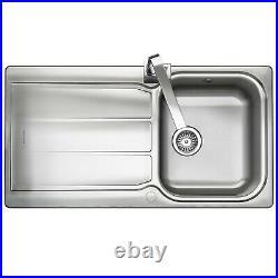 Rangemaster Glendale Kitchen Sink Single Bowl Stainless Steel Inset Waste Kit