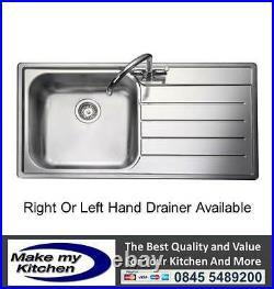 Rangemaster Oakland 1.0 Single Bowl Stainless Steel Kitchen Sink OL9851