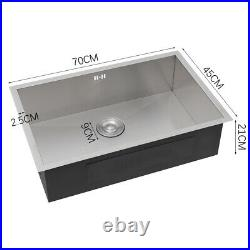 Rectangle Single Bowl Kitchen Sink Stainless Steel Sink Drainer Waste Fitting