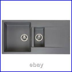 Reginox Amsterdam 15 Kitchen Sink Inset Single Bowl Drainer Granite Waste Grey