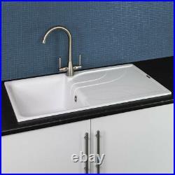 Reginox EGO400 Granite Single Bowl Kitchen Sink White Waste Reversible Recessed