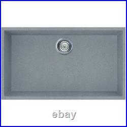 Reginox Elleci Quadra Titanium Granite Single Bowl Undermount Kitchen Sink Waste