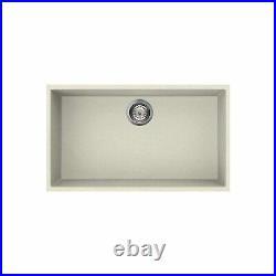 Reginox Extra Large Single Bowl Regi-Granite Cream Undermount Kitchen Sink