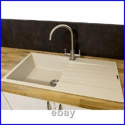 Reginox Harlem10 Single Bowl Kitchen Sink with Drainer Caffe Silvery Granite