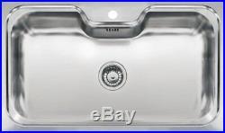 Reginox Jumbo Inset Kitchen Sink Stainless Steel Single Large Bowl 1 Tap Hole