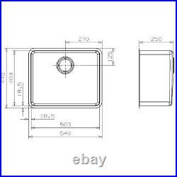 Reginox Kansas Stainless Steel Single Bowl Sink Kitchen Waste Durable 50x40