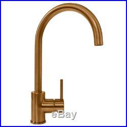 Reginox MIAMI 1.0 Single Bowl Copper Undermount Kitchen Sink 40x40cm Tap & Waste