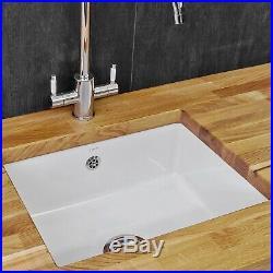 Reginox Mataro Large Single 1.0 Bowl Undermount Kitchen Ceramic Sink White Glaze