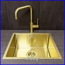 Reginox Miami Single Bowl Stainless Steel Gold Kitchen Sink