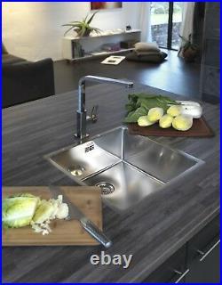 Reginox New York Stainless Steel Single Bowl Kitchen Sink Square Integral Waste