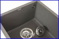 Reginox Quadra100 Granite Undermount Single Bowl Kitchen Sink Waste Grey Modern