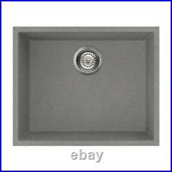Reginox Quadra105 Granite Undermount Single Bowl Kitchen Sink Grey 44 Litre