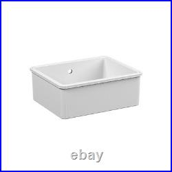 Reginox Single Bowl Ceramic White Undermount Kitchen Sink MATARO