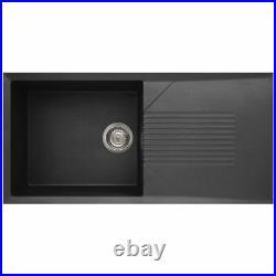 Reginox Tekno 480 Granitek Single Bowl Kitchen Sink in Black