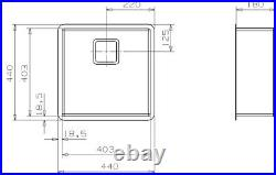 Reginox Texas Single Bowl Kitchen Sink Integrated 40 x 40 Stainless Steel Waste