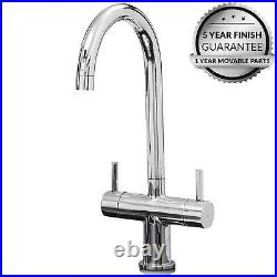 SIA 1 Bowl Reversible 1.2mm Brushed Stainless Steel Kitchen Sink & KT3CH Tap
