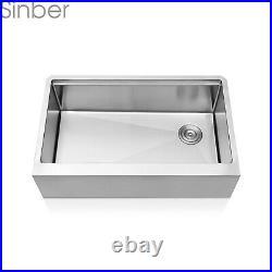 Sinber 33'' 16 Gauge Single Bowl Stainless Steel Farmhouse Apron Kitchen Sink